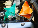 Fold and Leaf hiding in an engine by Sableyes