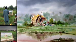 Pakistani Watercolor by mkazmiz