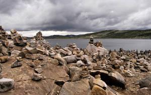 Stone stacks by WALKING-GIRL