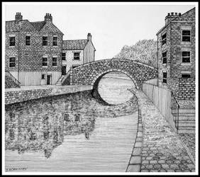 Canal scene by PENANDINKDRAWINGS