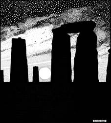 Winter Solstice at Stonehenge by PENANDINKDRAWINGS