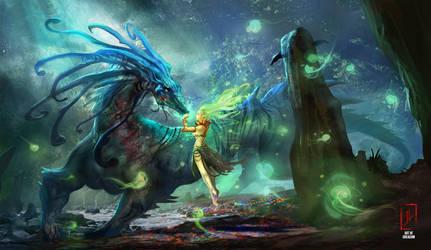 Gaia's embrace by DreadJim