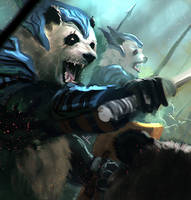 Panda Knight speedpaint by DreadJim