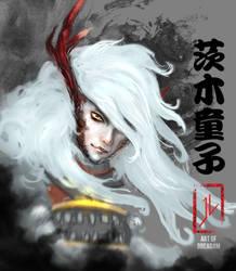 Onmyoshi Fanart Portrait: Ibaraki Demon Boy by DreadJim
