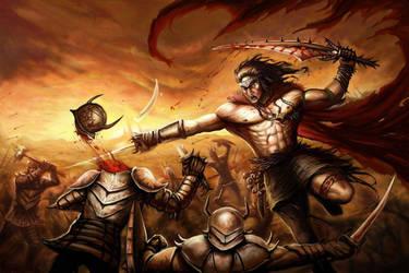 _Voosha the Warrior King_ by DreadJim