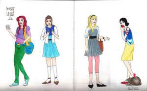 Disney Girls by GreenVertEmerald