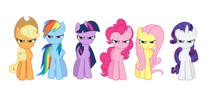 Mane Six group intro by Kired25