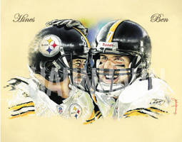 Steelers Ben and Hines by JohnHaunLE