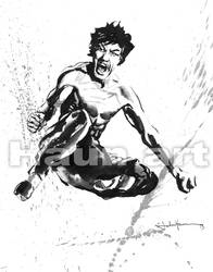Be water my friend! Bruce Lee by JohnHaunLE