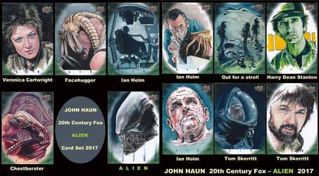 ALIEN SKETCH CARDS JOHN HAUN by JohnHaunLE