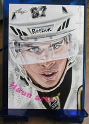 Leaf Hockey sketch card john haun by JohnHaunLE