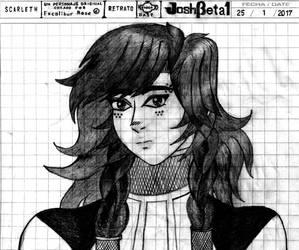 Scarleth's Portrait, JoshBeta1 version (Art Trade) by JoshBeta1