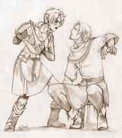 Safira and Arek by boudicca