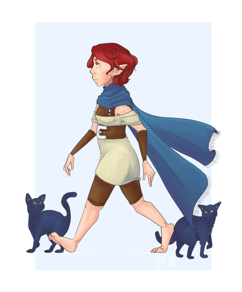 With Cats [OC/Dungeons and Dragons character] by michichibi