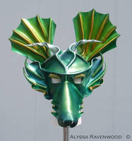 Dragon leather mask by Alyssa-Ravenwood