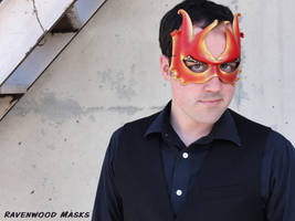 Pixie leather mask by Alyssa-Ravenwood