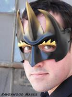 Goblin King - leather mask by Alyssa-Ravenwood
