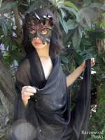 Dark Fire leather mask by Alyssa-Ravenwood