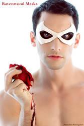 white leather mask by Alyssa-Ravenwood
