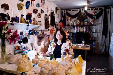 Alyssa Ravenwood at Ravenwood Masks studio in LA by Alyssa-Ravenwood
