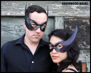 Striker leather masks by Alyssa-Ravenwood