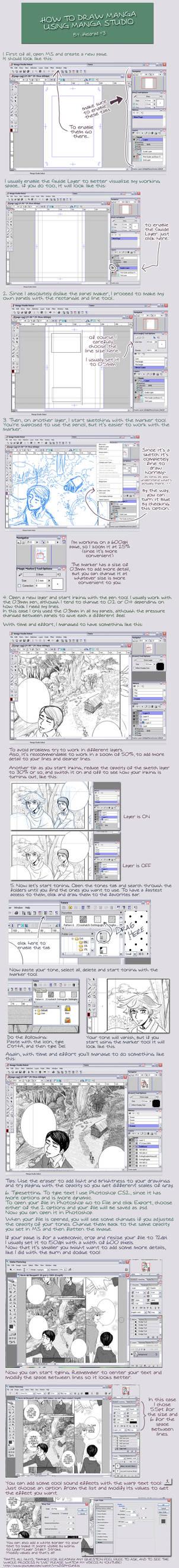 manga studio tutorial by Heldrad