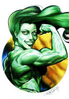 SHE_HULK_COLORED_PENCIL by renatocamilo