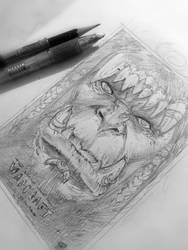 Sketch Poster Warcraft! by renatocamilo