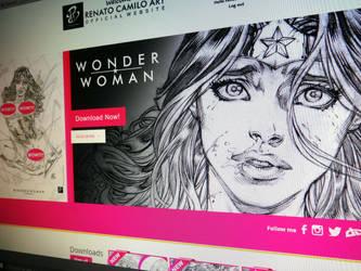 Wonder Woman Tied! by renatocamilo