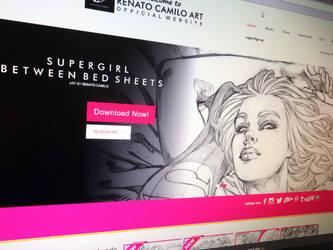 Supergirl Between Bed Sheets! by renatocamilo