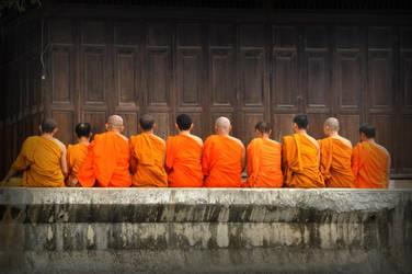 buddhist monks by michaelaiscool