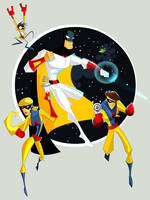 Space Ghost and Co. by nuknueve