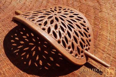 Jeweleeches Vivian Hebing: hair barrette brooche by Jeweleeches
