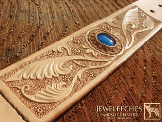 Jeweleeches Vivian Hebing:dog collar glass by Jeweleeches