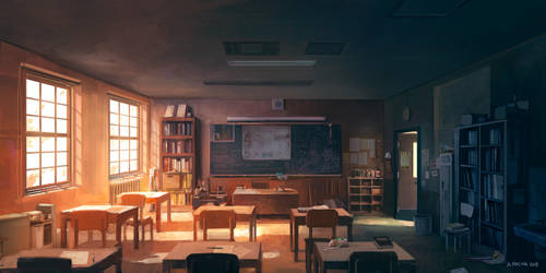 School Classroom by andreasrocha