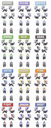 Silvally Overworld Sprites by SacredDragonair