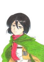 Into The Blue - Mikasa by AKreiko