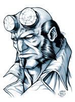 Hellboy sketch by EnricoGalli