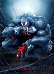 Venom vs Spiderman by EnricoGalli