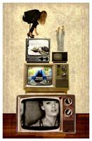 vintage television by mysticblu3
