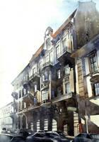 tenement house in Lwow by aleksandersw
