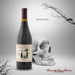 Nectar of the Elder Gods Faux Wine Ad by nerdsman567