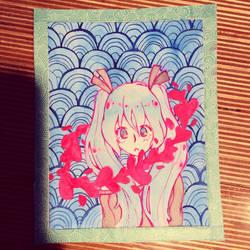 Hatsune Miku doodle  by naori-boru