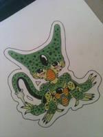 Imperfect Cell Chibi Sticker by Zanerkand