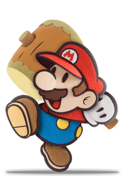 SSB5 Paper Mario - Default by ZaneTheDragon