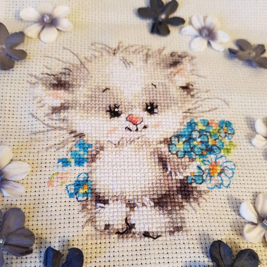 For My Pussycat X-stitch by jenninn