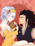 What are you reading, shrimp? Levy x Gajeel by AmySunHee