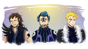 Fairy Tail Trio by AmySunHee