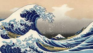 Tsunami by Hokusai PSP Wall 01 by SulphurFeast
