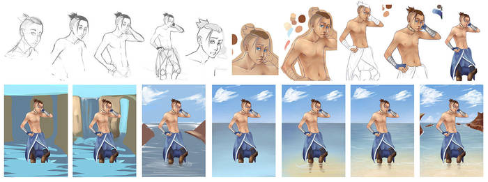 progression of sokka by against-the-law